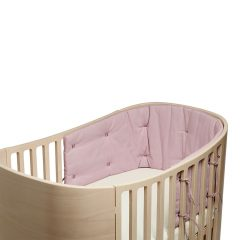Bumper for Classic baby cot Organic dusty rose