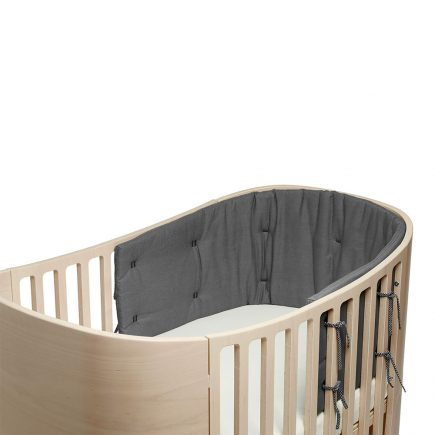 Bumper for Classic baby cot organic cool grey
