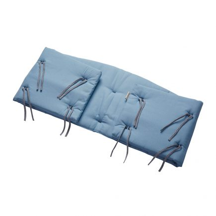 Bumper for Classic baby cot Organic dusty blue