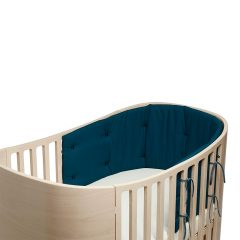 Bumper for Classic baby cot Organic dark blue
