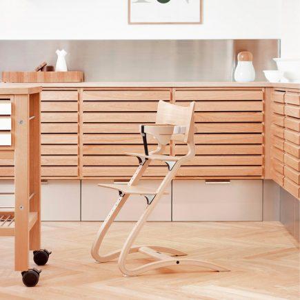 Leander Classic Safetybar Highchair Whitewash