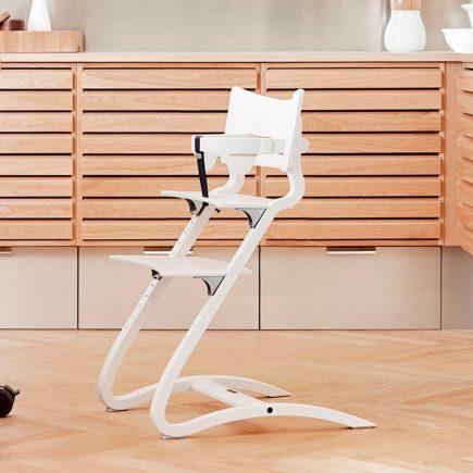 Leander Classic Safetybar Highchair White