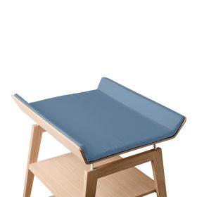 Leander – Cover voor aankleedkussen Linea changing table – dusty blue