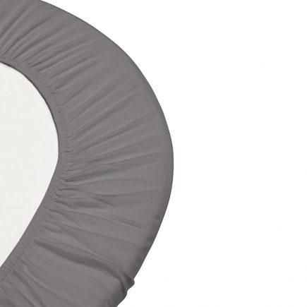 Hoeslaken voor ledikant Linea en Luna 60 x 120 cm cool grey