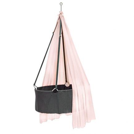 Leander Hangwieg grey met soft pink baldakijn