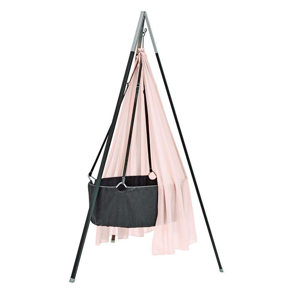 Leander Hangwieg met tripod grey, soft pink baldakijn