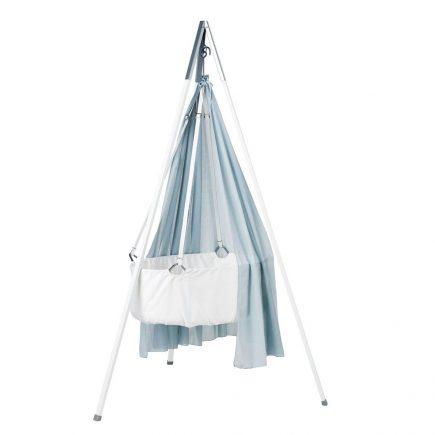 Leander Hangwieg met tripod white, misty blue baldakijn