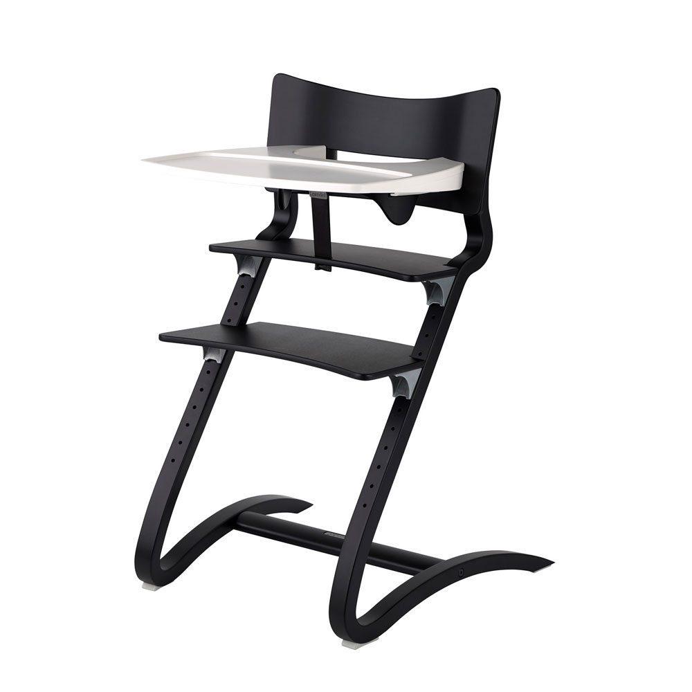 Leander kinderstoel black met tray