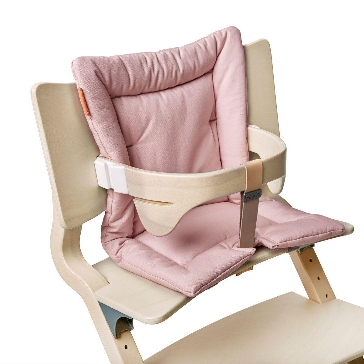 Leander kinderstoel kussen soft pink