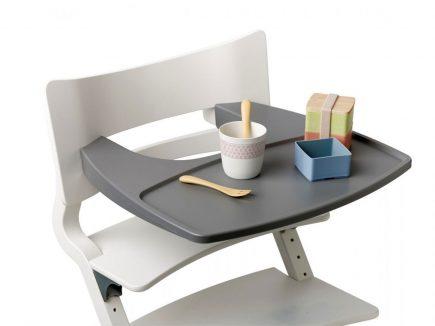 Leander kinderstoel tray grey