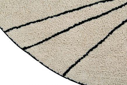 Rond vloerkleed 160 cm Trace beige
