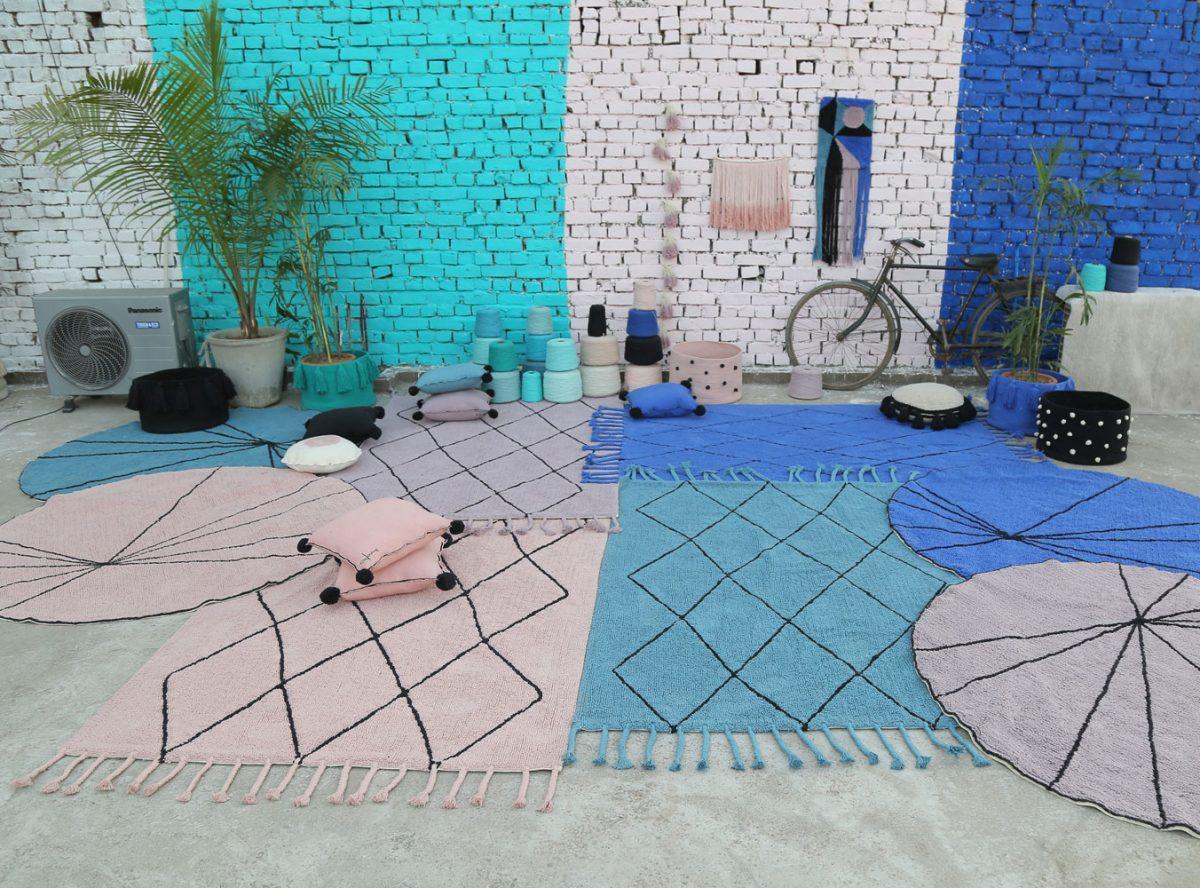 Comfortabel Vloerkleed Babykamer : Lorena canals rond vloerkleed trace vintage nude gratis
