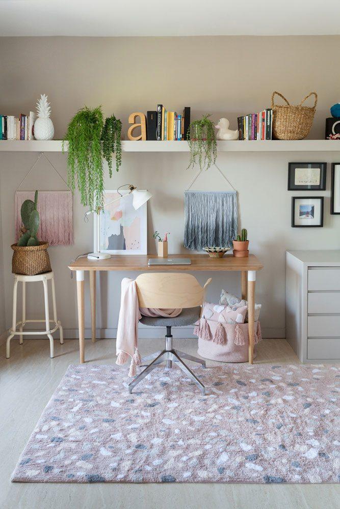 Vloerkleed Terrazzo 140 x 200 cm pink