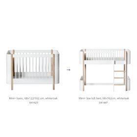 Oliver Furniture – Conversie Kit – Wood Mini+ naar Low Loft Bed – Wit/Eiken