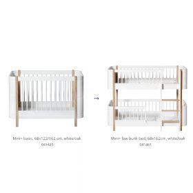 Oliver Furniture – Conversie Kit – Wood Mini+ naar Low Bunk Bed – Wit/Eiken