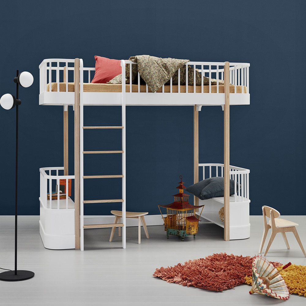 Oliver Furniture Loft bed Wood white oak