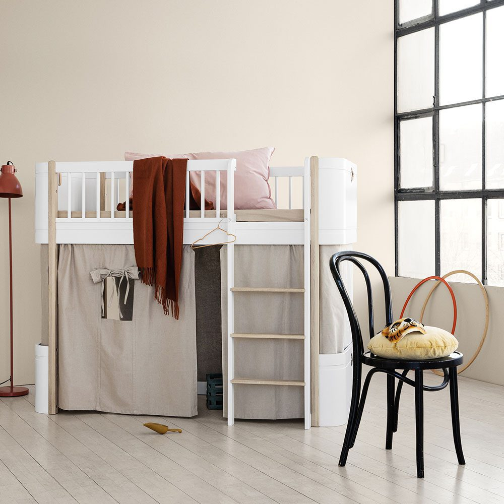 Oliver Furniture Mini+ conversie naar Loft bed white oak