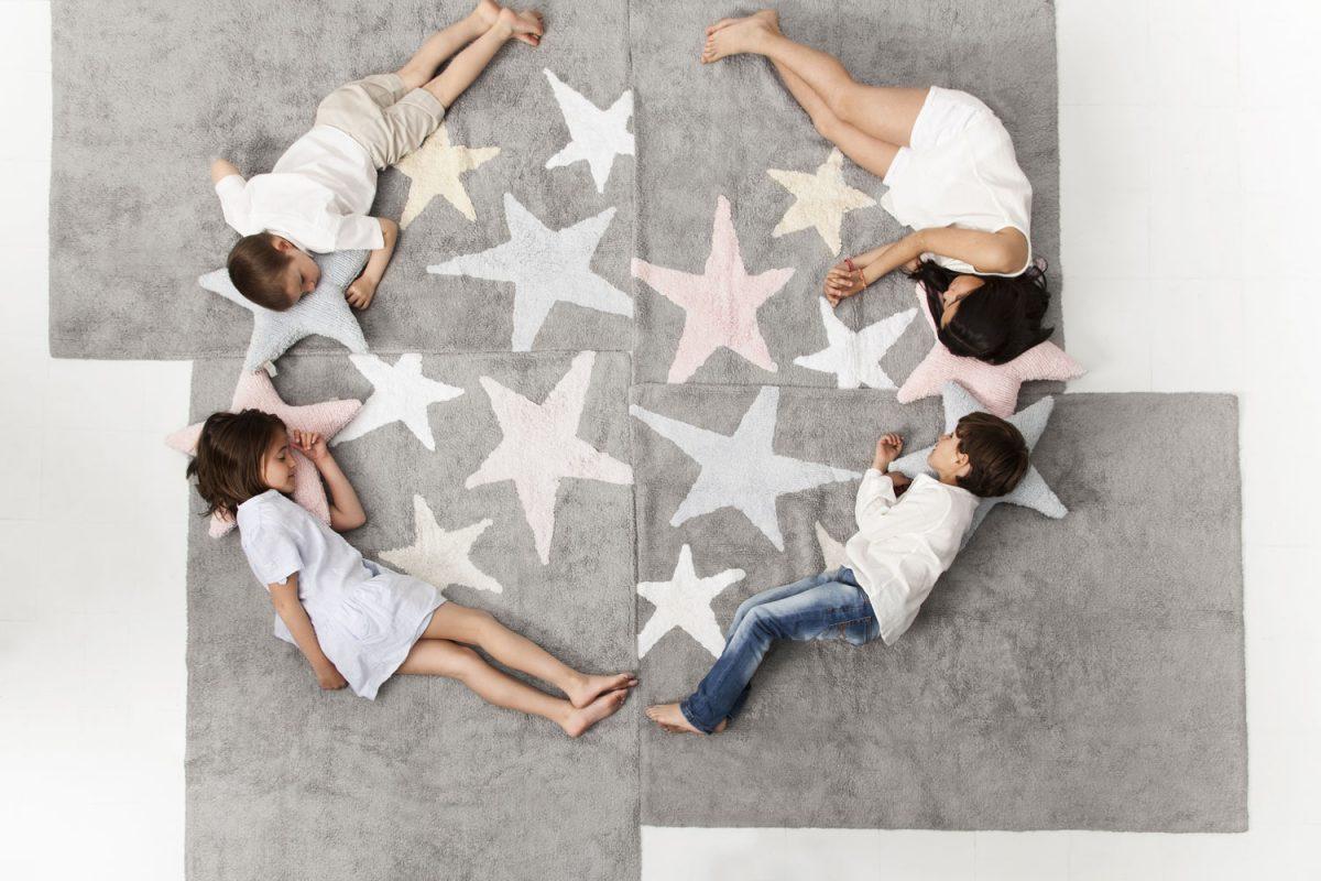 Lorena Canals Vloerkleden babykamer 3 Stars cotton3