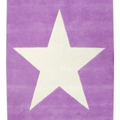 Lorena Canals wollen vloerkleed kinderkamer Star purple vanille