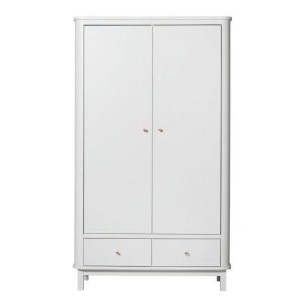 Oliver Furniture Kinderkledingkasten Wood white 2 deuren