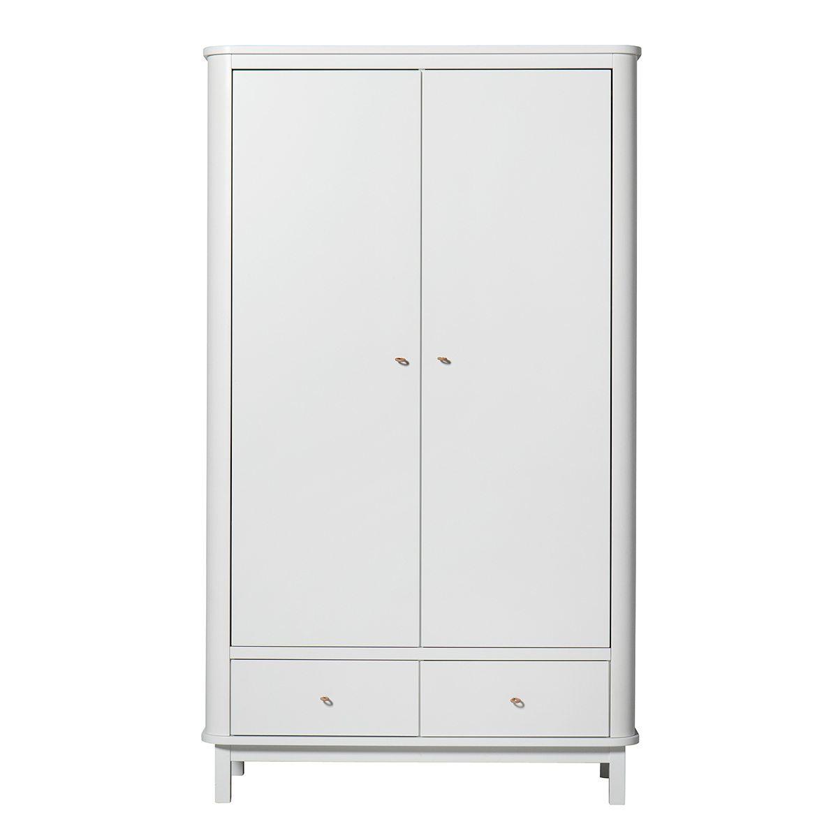 Oliver Furniture – Wood Kinderkledingkast 2 deuren – Wit