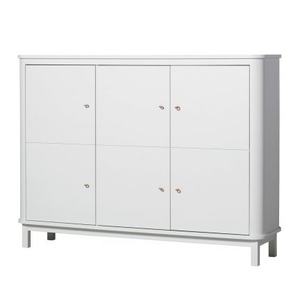 Oliver Furniture Kinderkledingkasten Wood white 3 deuren laag