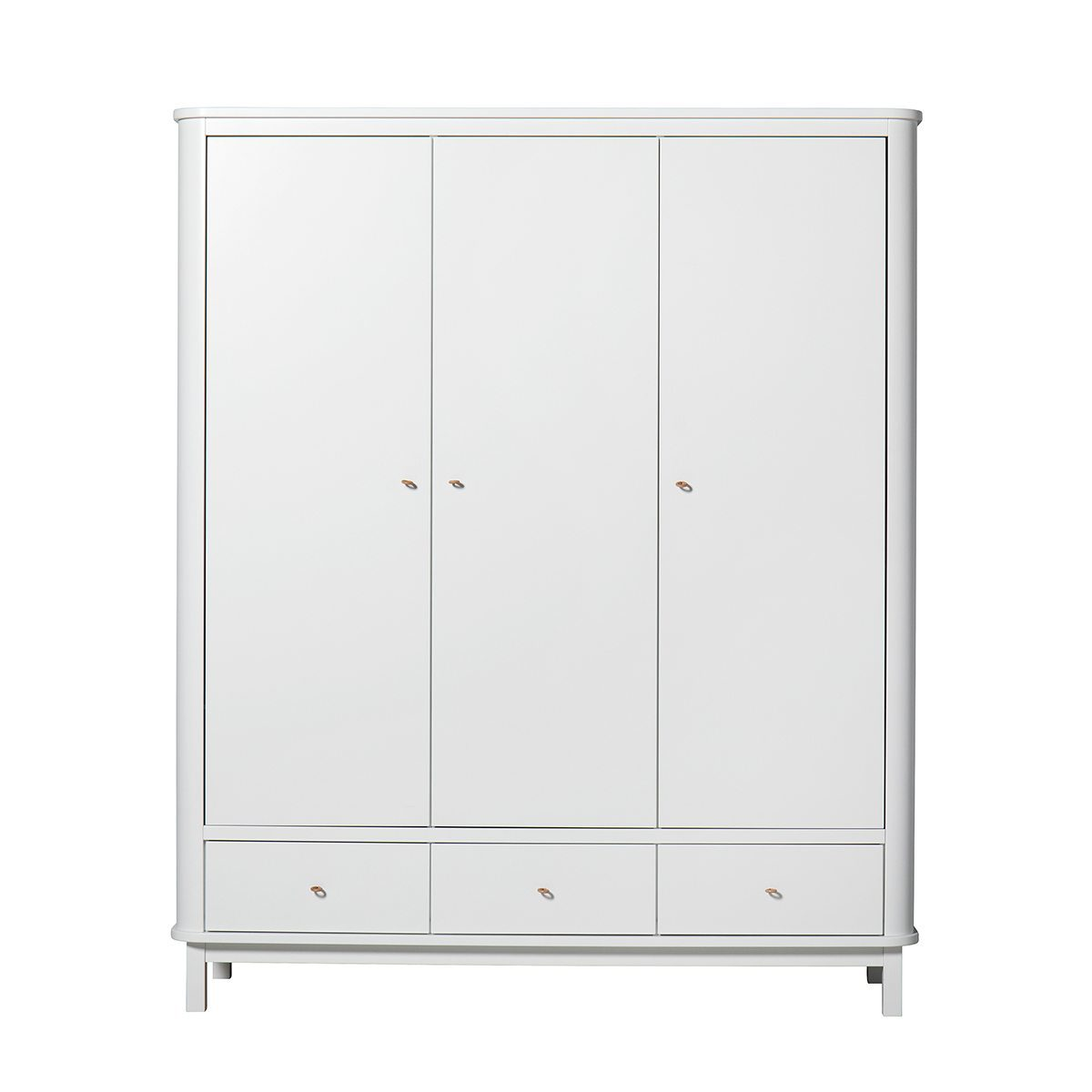 Oliver Furniture Kinderkledingkasten Wood white 3 deuren