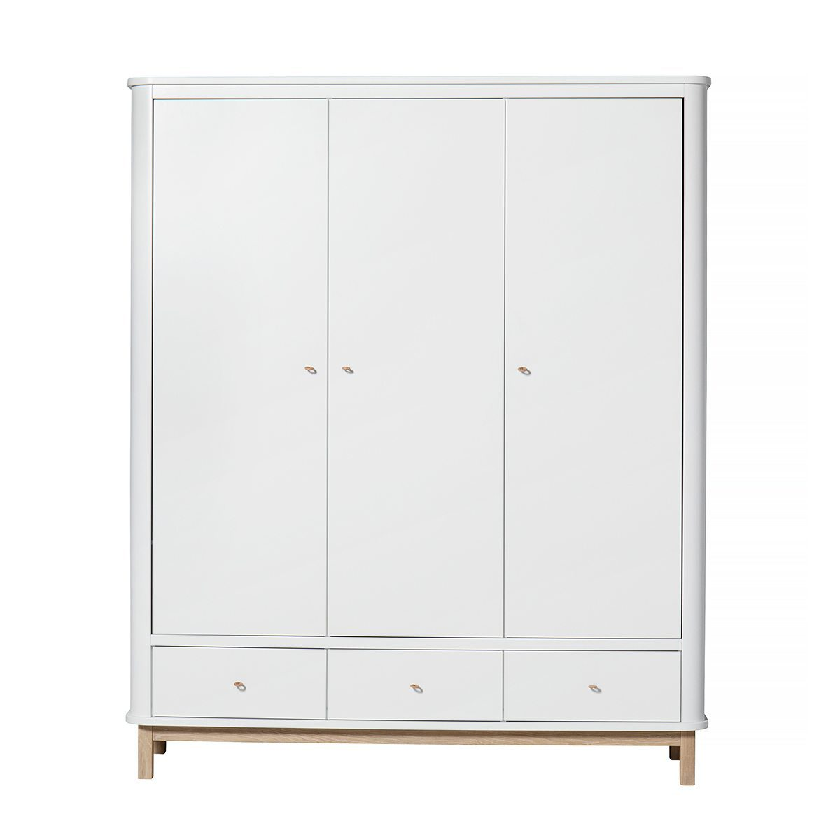 Oliver Furniture Kinderkledingkasten Wood white oak 3 deuren