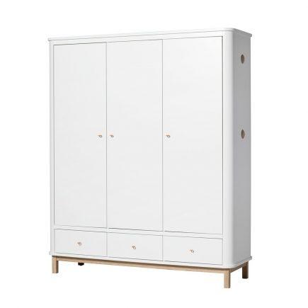 Oliver Furniture Kinderkledingkasten Wood white oak 3 deuren