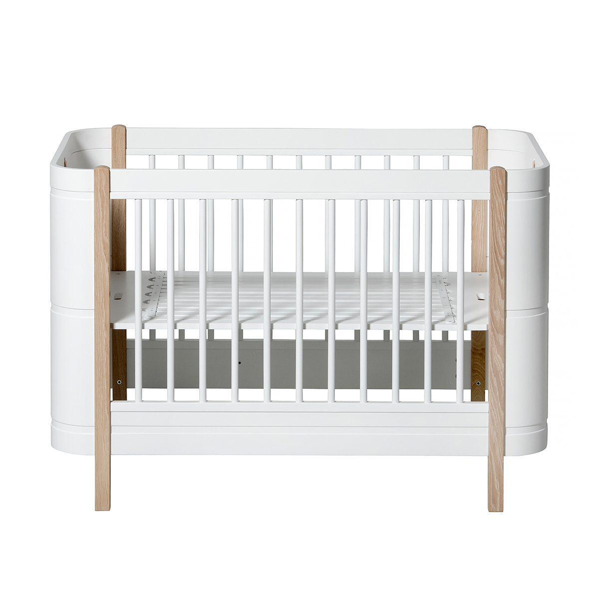 Oliver Furniture – Wood Mini+ Basic Ledikant – Wit/Eikenhout