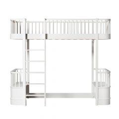 Oliver Furniture Loft bed Wood white ladder links voor
