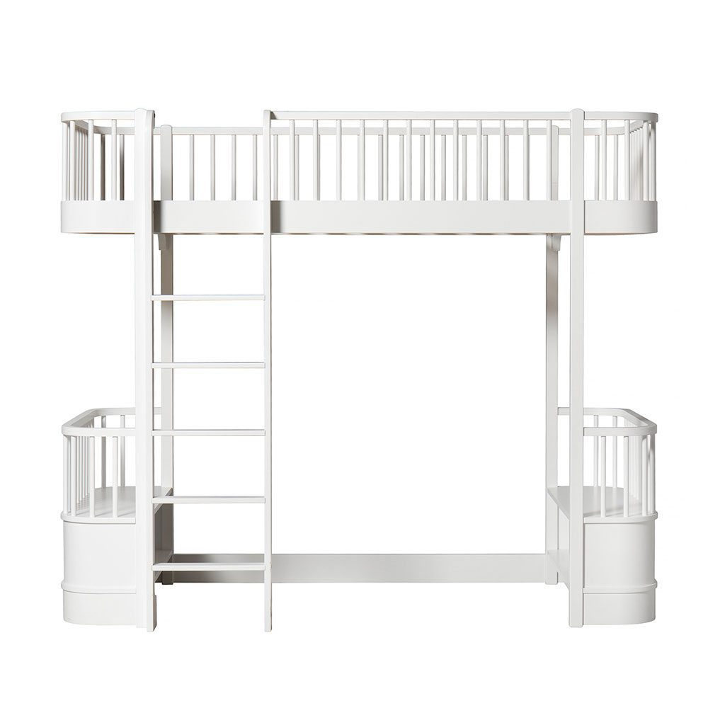 Oliver Furniture Loft bed Wood white ladder links voor