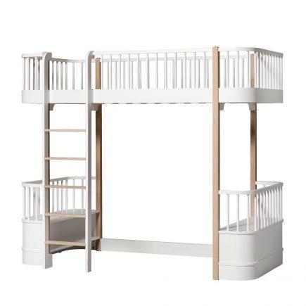 Oliver Furniture Loft bed Wood white oak ladder links voor