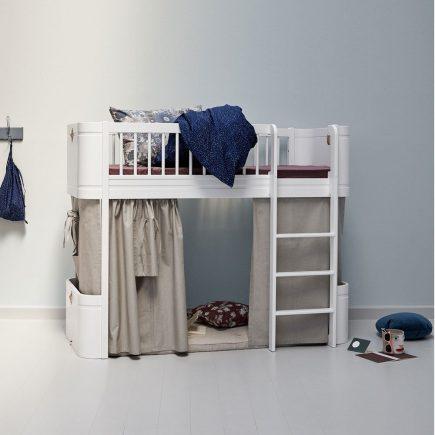 Oliver Furniture Mini+ low Loft bed white