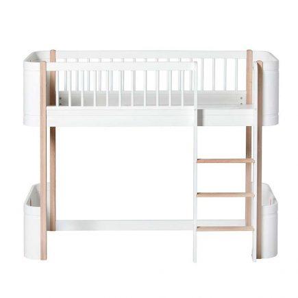 Oliver Furniture Mini low Loft bed white oak