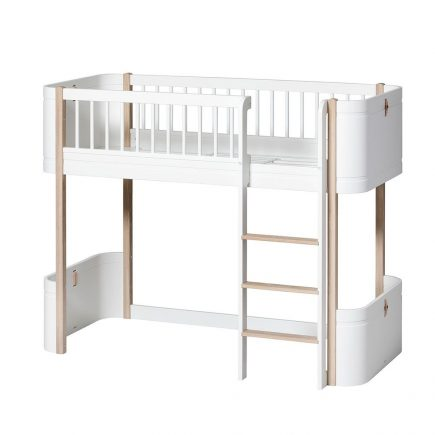 Oliver Furniture Mini+ low Loft bed white oak
