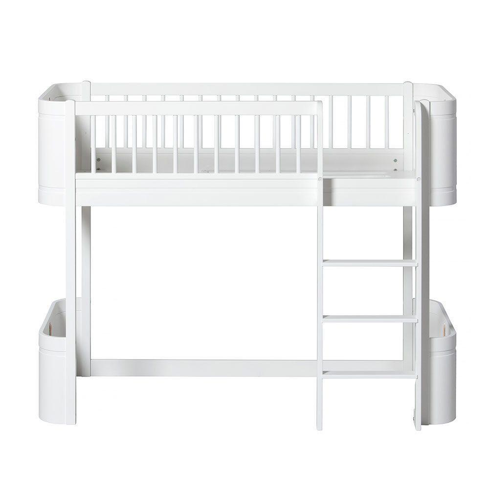 Oliver Furniture – Wood Mini+ Low Loft Bed – Wit