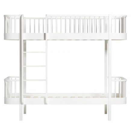 Oliver Furniture Stapelbed Wood white ladder links voor
