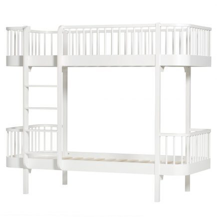 Oliver Furniture Stapelbed Wood white ladder links voor1