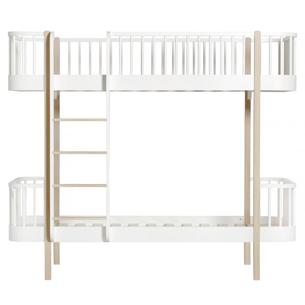 Oliver Furniture Stapelbed Wood white oak ladder links voor