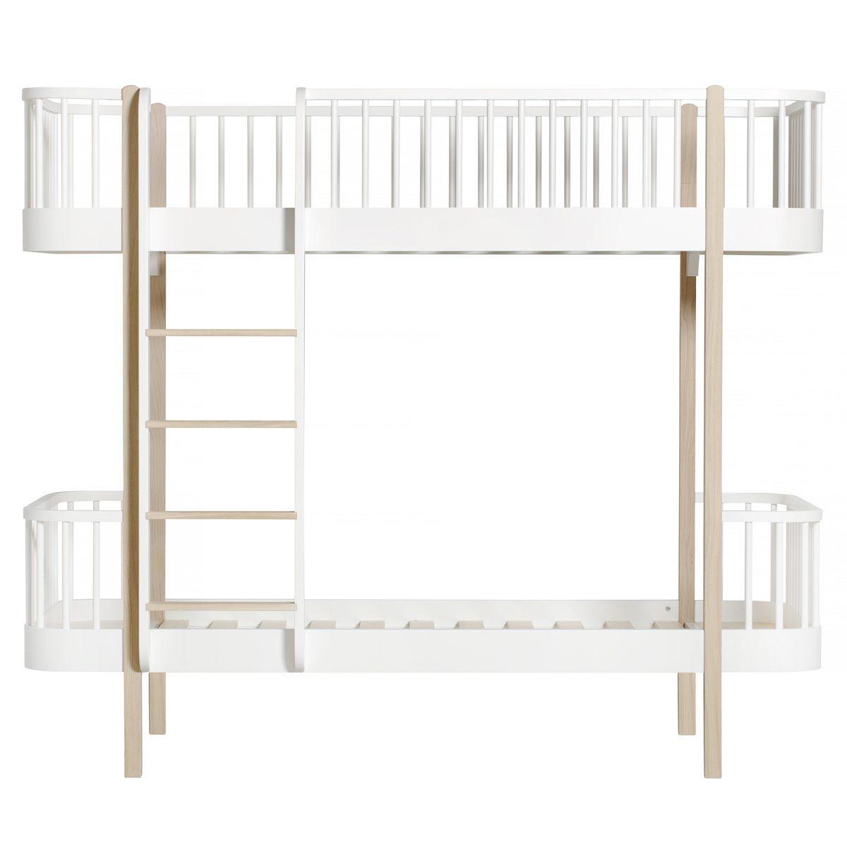Oliver Furniture – Wood Original Bunk Bed – Wit/Eikenhout, 90 x 200 cm
