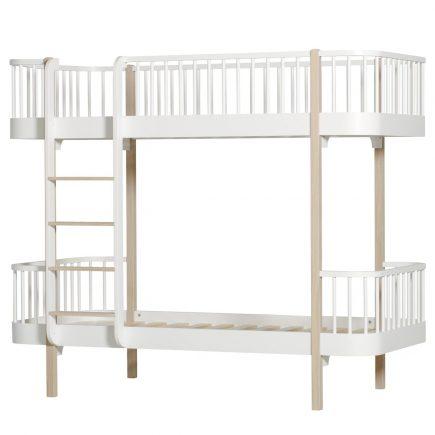 Oliver Furniture Stapelbed Wood white oak ladder links voor