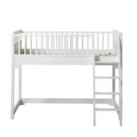 Oliver Furniture – Seaside Junior Low Loft Bed – Wit, 90 x 160 cm