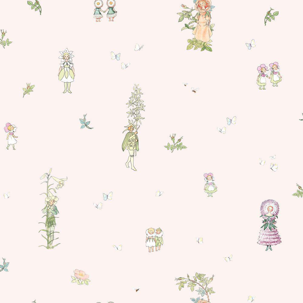 6235 BoråsTapeter Behang kinderkamer Blomsterfesten pink