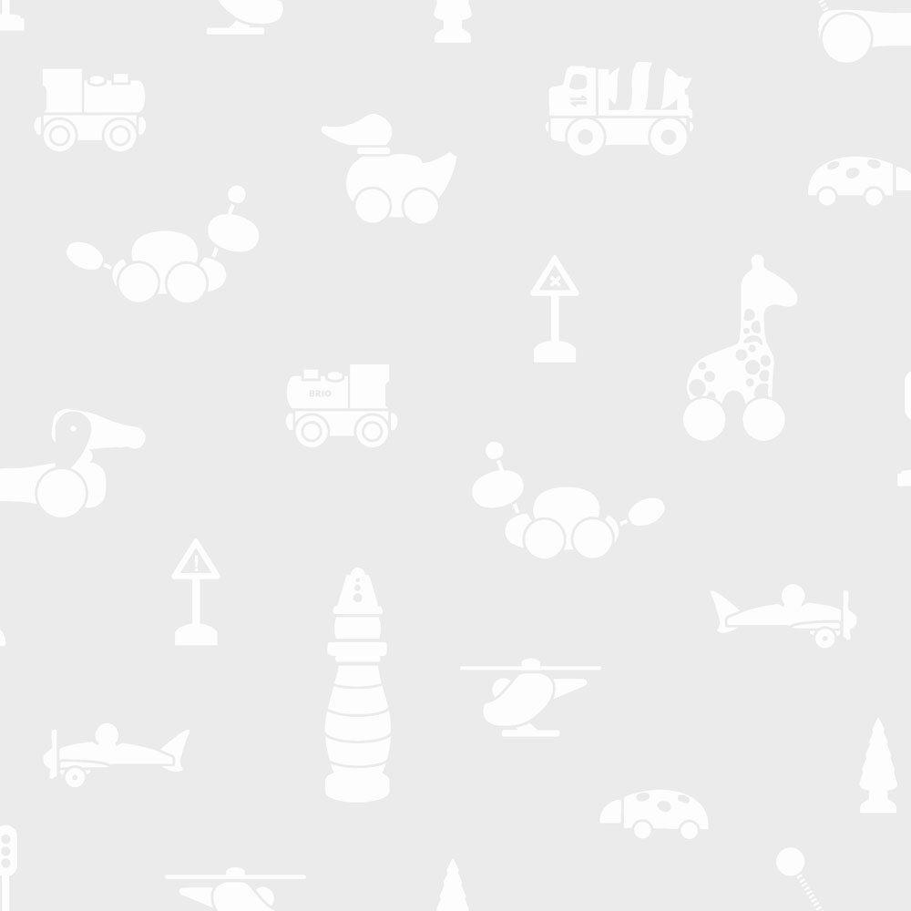 6239 BoråsTapeter Behang kinderkamer Brio icons grey