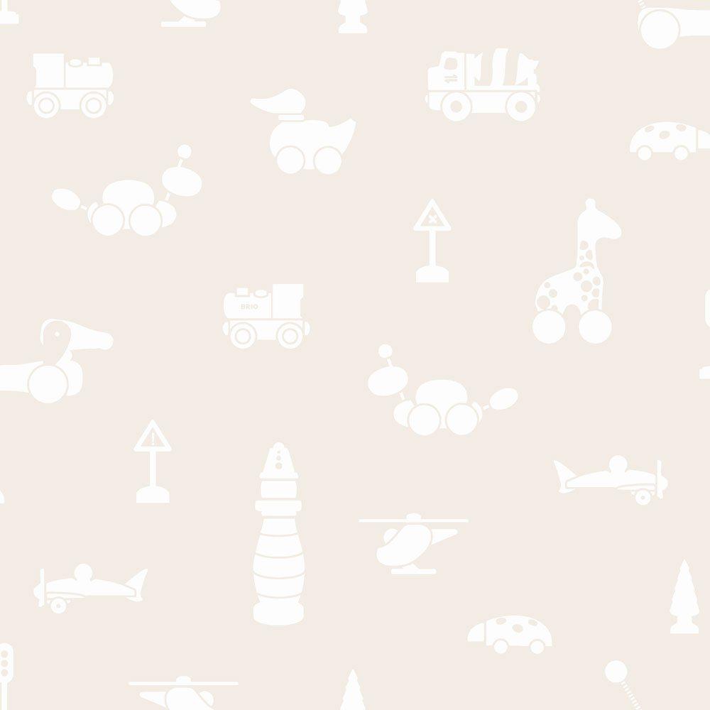 6240 BoråsTapeter Behang kinderkamer Brio icons beige