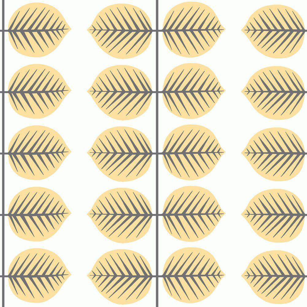 6244 BoråsTapeter Behang kinderkamer Berså II yellow