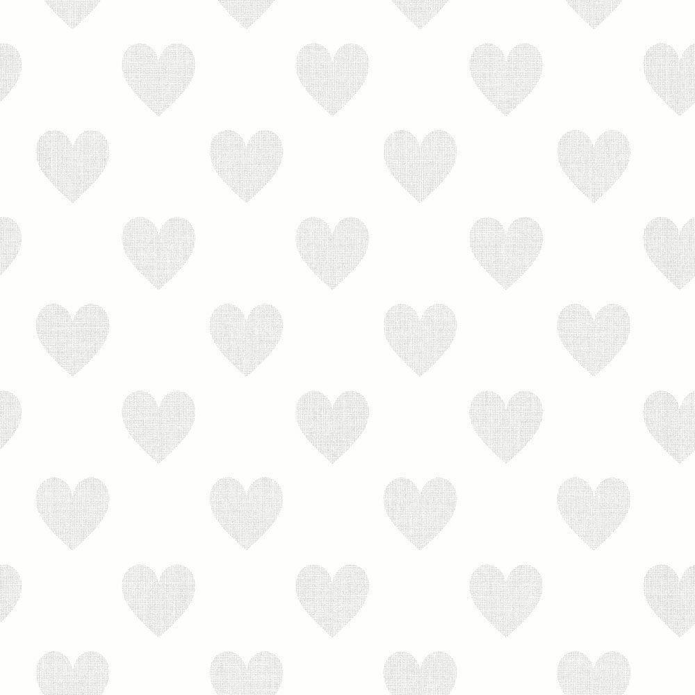 6257  BoråsTapeter Behang kinderkamer Sweetheart silver