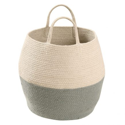 Lorena Canals - basket Zoco -vintage blue-natural