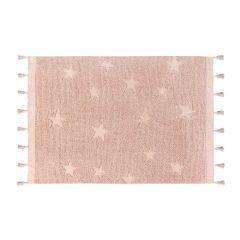Vloerkleed Hippy Stars 120 x 175 cm vintage nude
